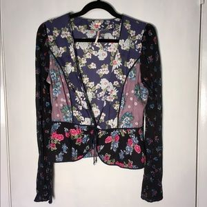 🌈⚡️Free people floral patchwork cloth jacket